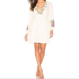 Free People | Spell On You Embroidered Mini Dress